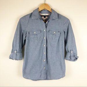 ⭐️ Tommy Hilfiger button down denim shirt